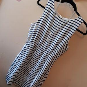 J.Crew Stripes Silk Tank Dress